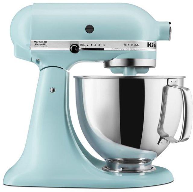 KitchenAid® Artisan® Series 5 Quart Mineral Water Blue Stand Mixer-KSM150PSMI