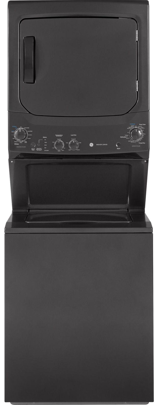 GE® Unitized Spacemaker® Stack Laundry-Diamond Gray-GUD27ESPMDG
