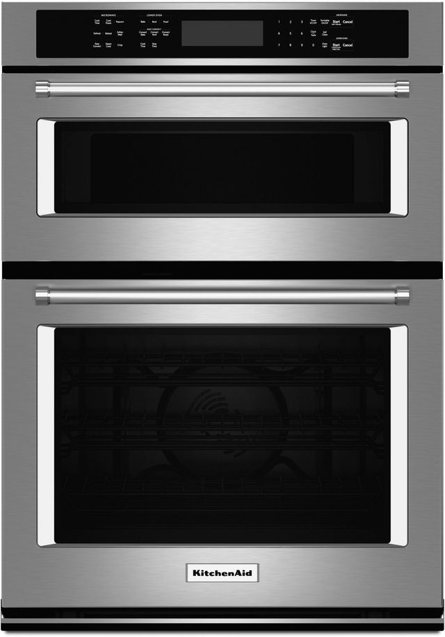 """KitchenAid® 27"""" Stainless Steel Electric Oven/Microwave Combo Built In-KOCE507ESS"""