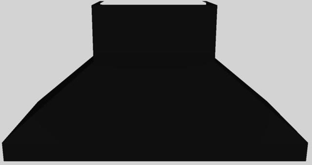 """Vent-A-Hood® 60"""" Euro-Style Wall Mounted Range Hood-Black-EPTH18-460 BL"""