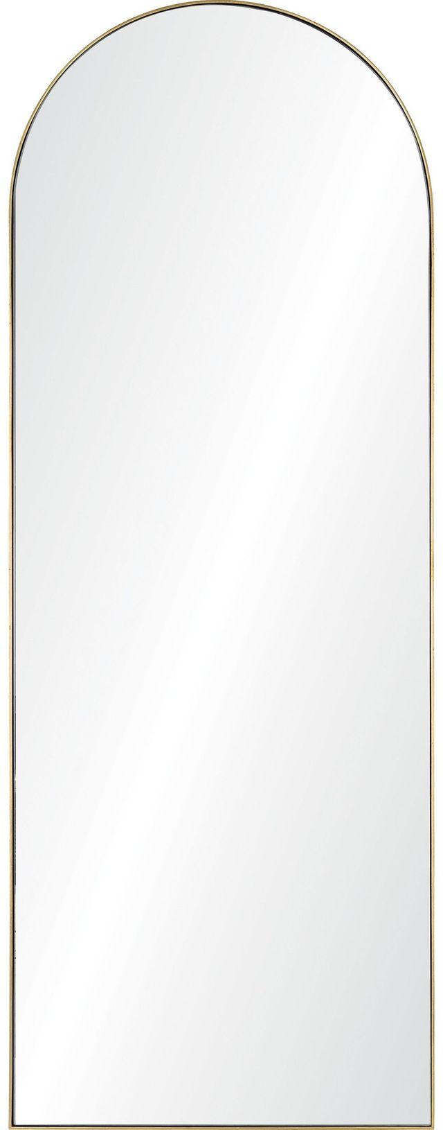 Miroir de longueur double Thatcher, feuille d'or, Renwil®-MT2393