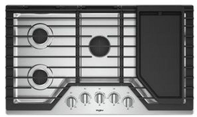 "Whirlpool® 36"" Gas Cooktop-Stainless Steel-WCG97US6HS"