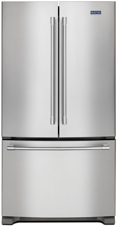 Maytag® 25.19 Cu. Ft. Fingerprint Resistant Stainless Steel French Door Refrigerator-MFF2558FEZ