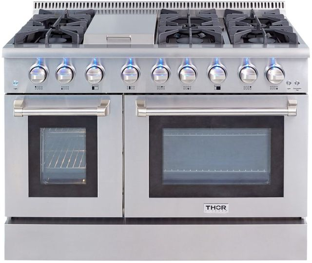 "Thor Kitchen® 48"" Stainless Steel Pro Style Gas Range-HRG4808U"