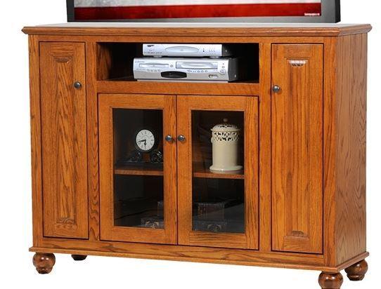 American Heartland Oak Tall Deluxe TV Stand-63156