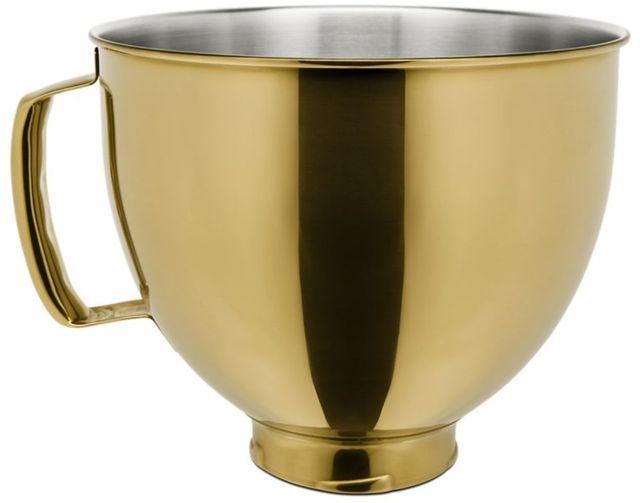 KitchenAid® Radiant Gold 5 Quart Metallic Finish Stainless Steel Bowl-KSM5SSBRG
