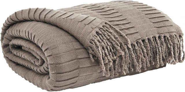 Signature Design by Ashley® Mendez Taupe Set of 3 Throws-A1000614