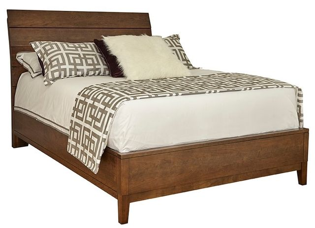 Durham Furniture Defined Distinction Autumn Wind Queen Wood Plank Bed with Wooden Base-158-124