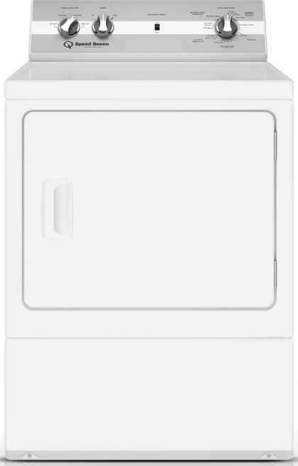 Speed Queen® 7.0 Cu. Ft. White Front Load Electric Dryer-DC5000WE-15-0805