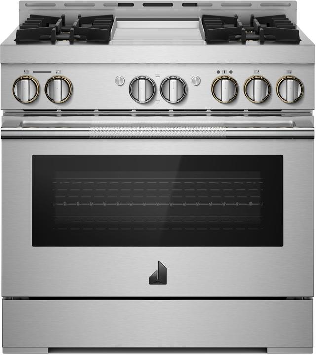 "JennAir® RISE™ 36"" Stainless Steel Pro Style Gas Range-JGRP536HL"