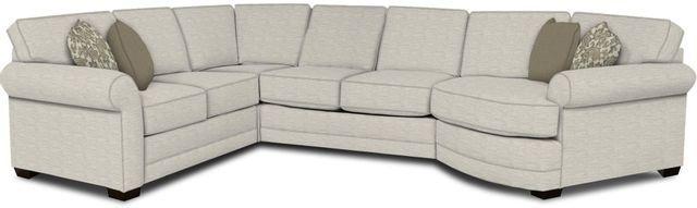 England Furniture Co. Brantley 4 Piece Culpepper Snow/Alvarado Mineral/Kaysen Army Sectional-5630-28-22-43-95+8613+8636+8601