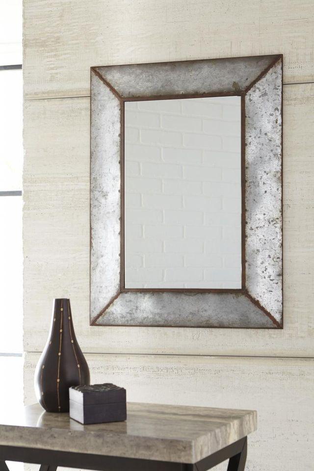 Signature Design by Ashley® O'Tallay Antique Gray Accent Mirror-A8010020