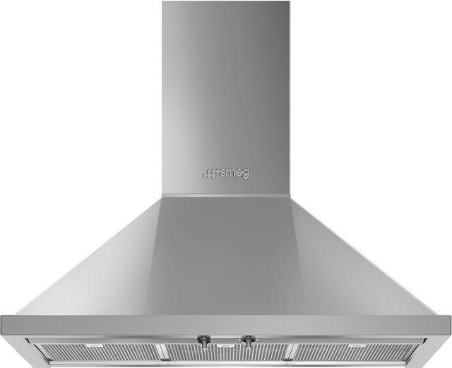 "Smeg 36"" Portofino Ventilation Hood-Stainless Steel-KPF36UX"