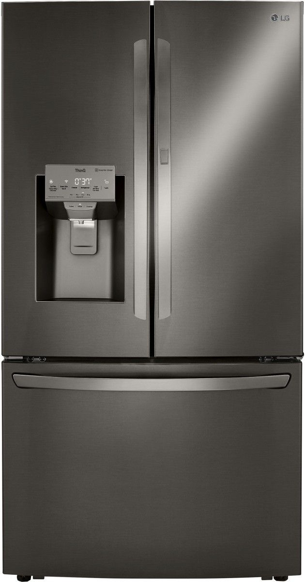 LG 30 Cu. Ft. PrintProof™ Black Stainless Steel French Door Refrigerator-LRFDS3016D