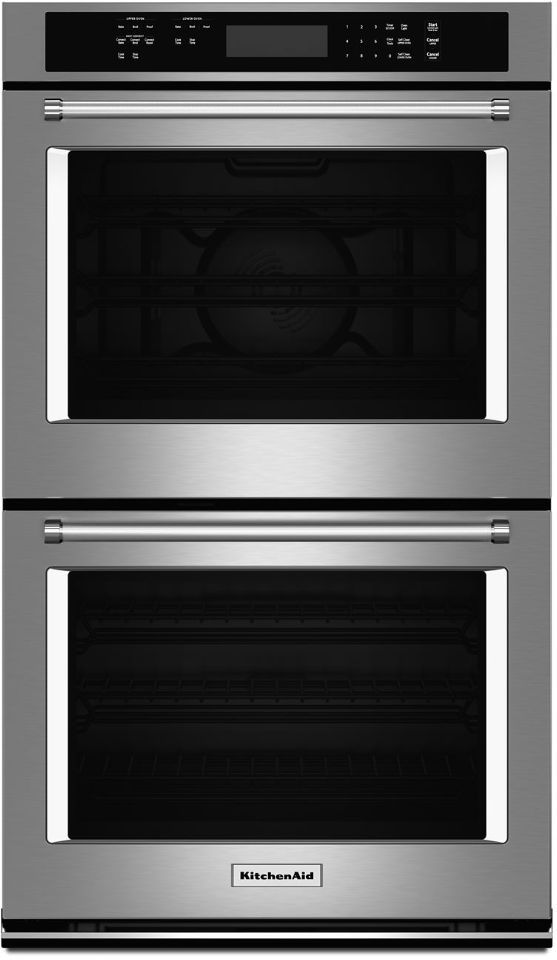 """KitchenAid® 27"""" Stainless Steel Electric Double Oven Built In-KODE307ESS"""