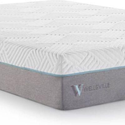 "Malouf® Sleep Wellsville Split Queen 11"" Plush Gel Memory Foam Hybrid Mattress-WE11SQ38GH"
