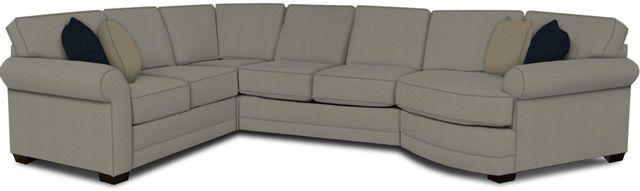 England Furniture Co. Brantley 4 Piece Culpepper Cement/Alvarado Mineral/Ferno Silver Sectional-5630-28-22-43-95+8612+8342+8601