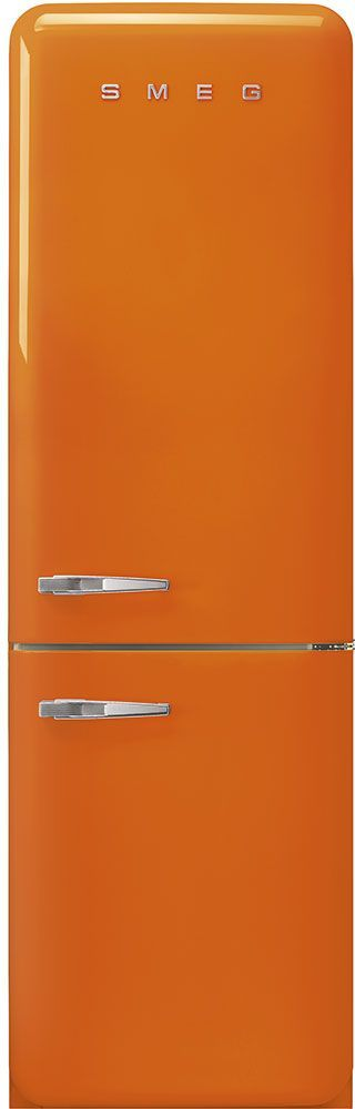 Smeg 50's Retro Style Aesthetic 11.69 Cu. Ft. Orange Bottom Freezer Refrigerator-FAB32UROR3