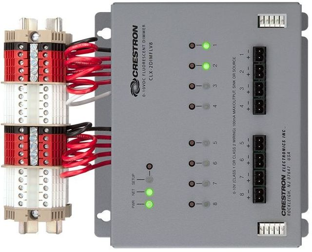 Crestron® 8 Channel 0-10V Dimmer Module-GL-CAEN-2DIMFLV8 KIT