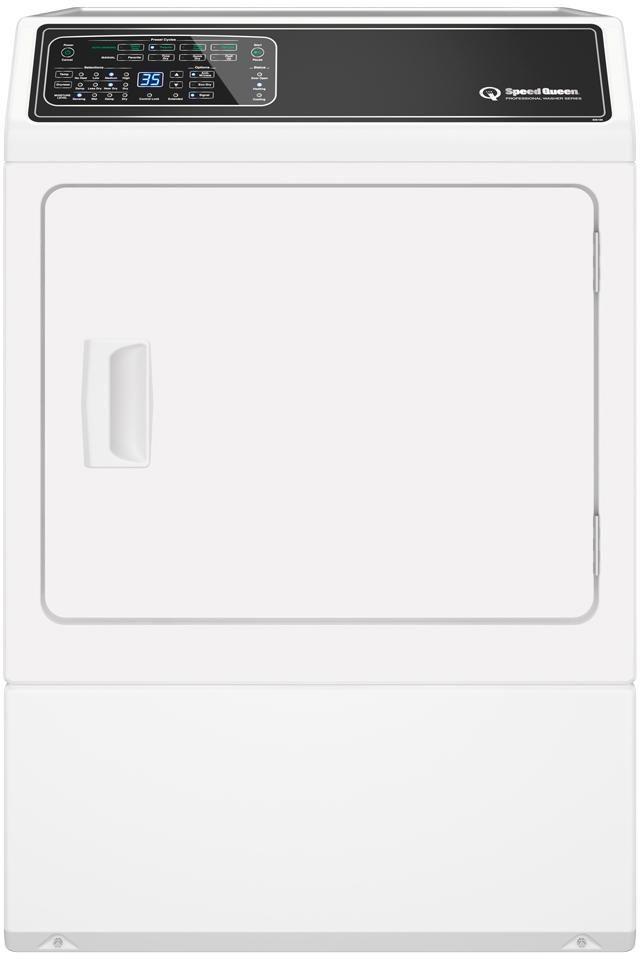 Speed Queen® 7.0 Cu. Ft. White Gas Dryer-DF7000WG
