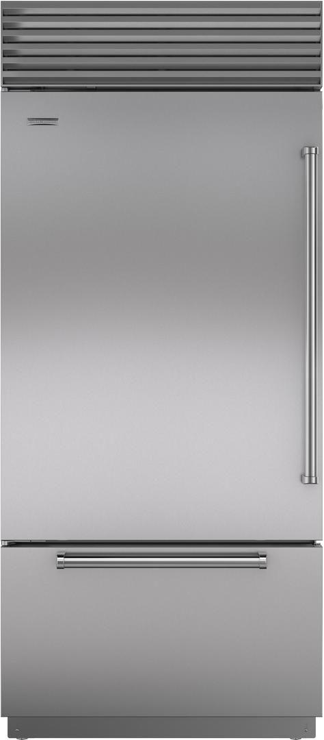 Sub-Zero® 21.7 Cu. Ft.Stainless Steel Bottom Freezer Refrigerator-BI-36UID/S/PH-LH