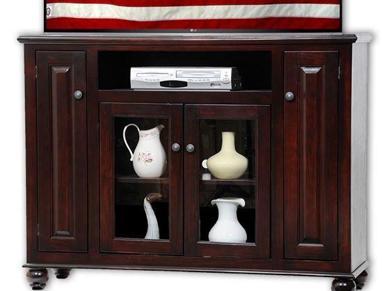 American Heartland Poplar Tall Deluxe TV Stand-65156