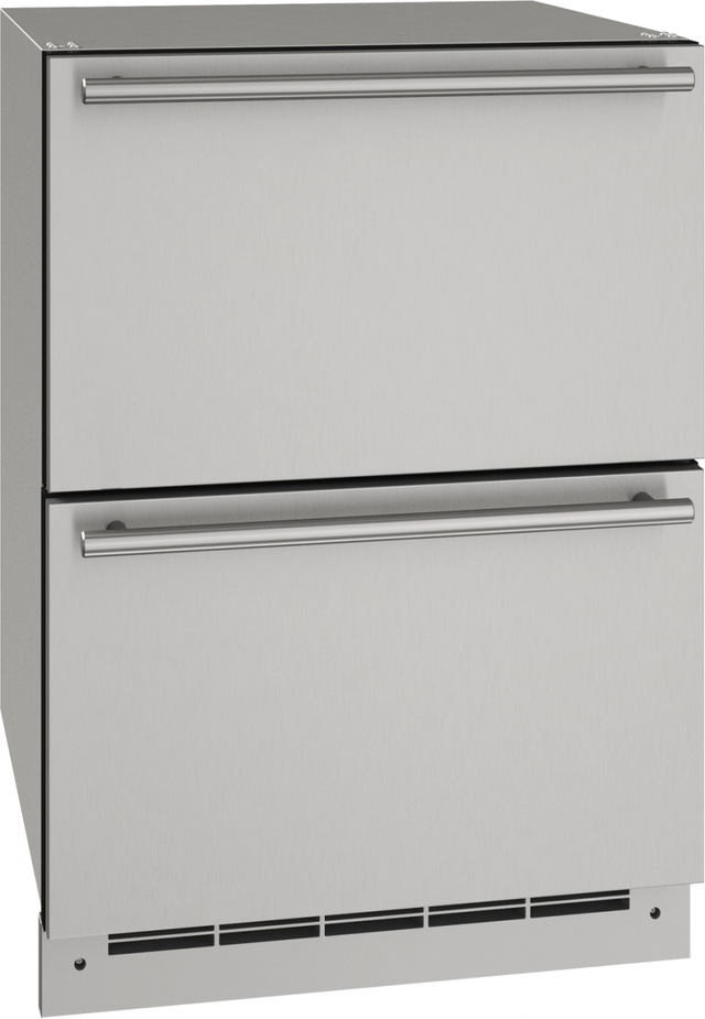"""U-Line® 24"""" Stainless Solid Outdoor Refrigerator-UODR124-SS61A"""