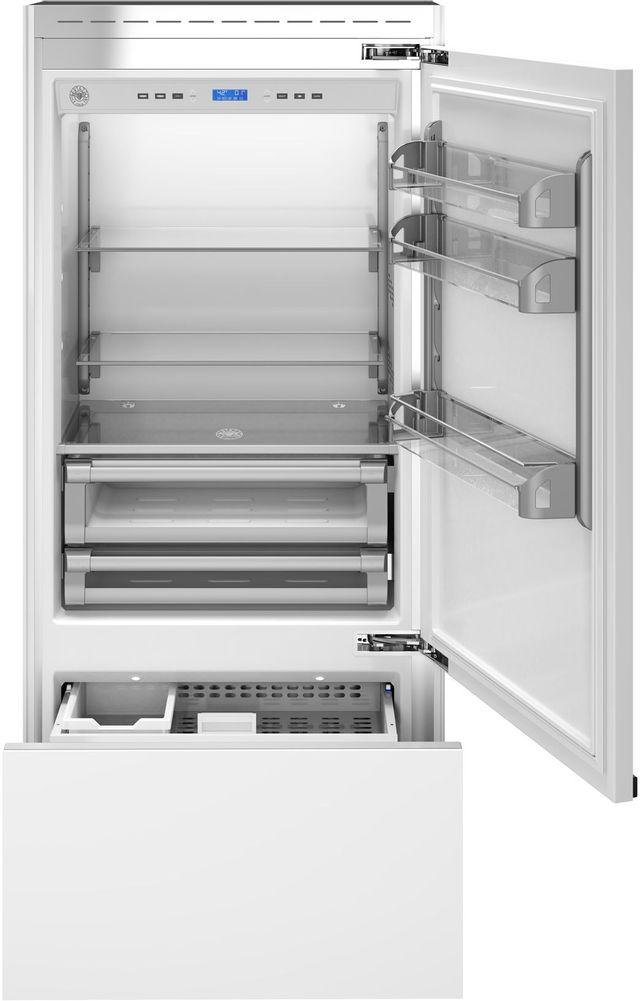 Bertazzoni Professional Series 17.7 Cu. Ft. Panel Ready Built In Bottom Mount Refrigerator-REF36PRR