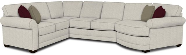 England Furniture Co. Brantley 4 Piece Culpepper Snow/Alvarado Mineral/Martin Mulberry Sectional-5630-28-22-43-95+8613+8642+8601