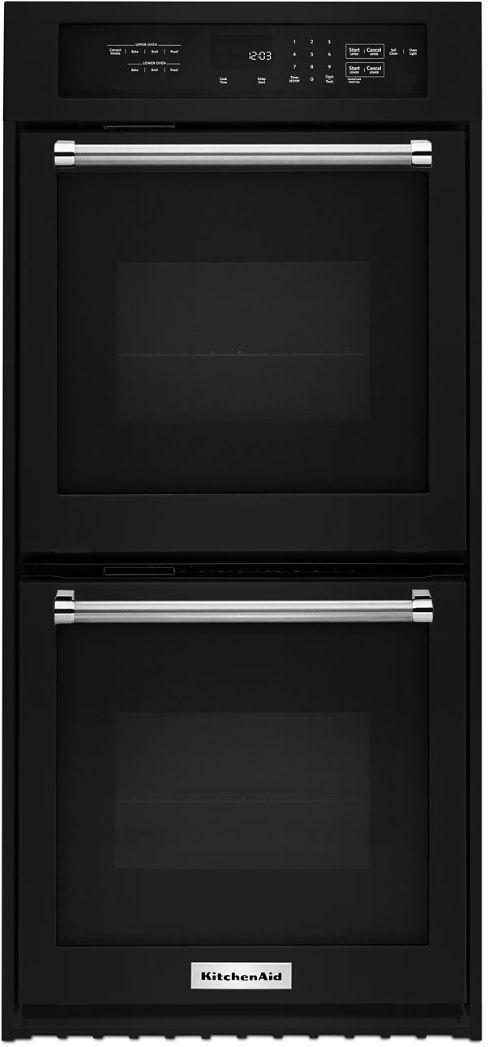 "KitchenAid® 23.75"" Black Electronic Built In Oven-KODC304EBL"