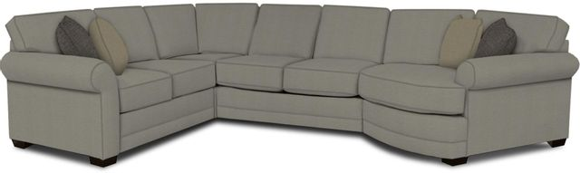 England Furniture Co. Brantley 4 Piece Culpepper Cement/Alvarado Mineral/Shaker Flax Sectional-5630-28-22-43-95+8612+7955+8601