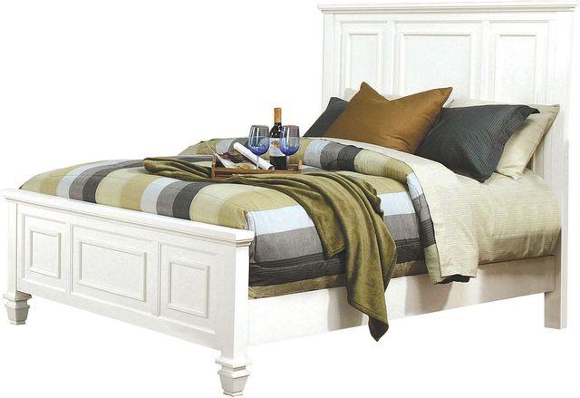 Coaster® Sandy Beach White California King Bed-201301KW