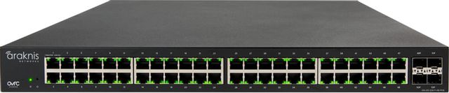 SnapAV Araknis Networks® 210 Series Black 48+2 Front Ports Websmart Gigabit Switch Partial PoE+-AN-210-SW-F-48-POE