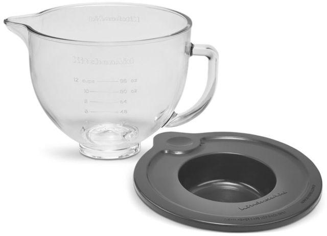 KitchenAid® 5 Quart Glass Bowl with Measurement Markings & Lid-KSM5GB