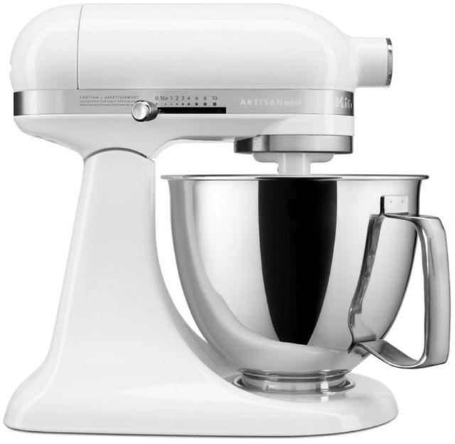 KitchenAid® Artisan® Mini White 3.5 Quart Stand Mixer-KSM3316XWH