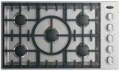 """DCS 36"""" Drop In Cooktop-Stainless Steel-CDV2-365-N"""