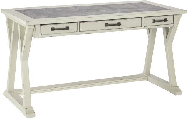 """Signature Design by Ashley® Jonileene White/Gray 60"""" Home Office Desk-H642-44"""