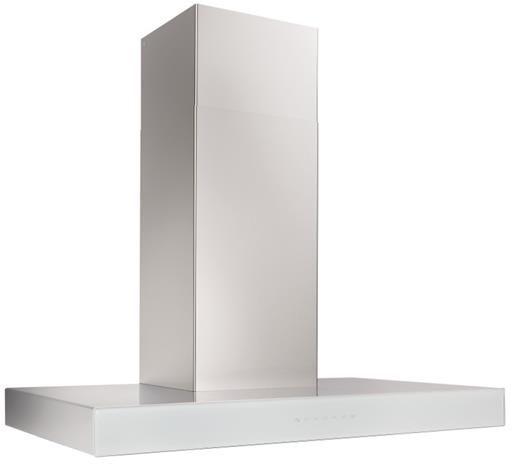 "Best® Ispira 30"" Stainless Steel White Glass Chimney Range Hood-WCB3I30SBW"