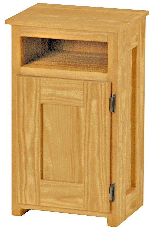 Crate Designs™ Classic Right Side Hinge Door Petite Nightstand with Lacquer Finish Top Only-TA8003R