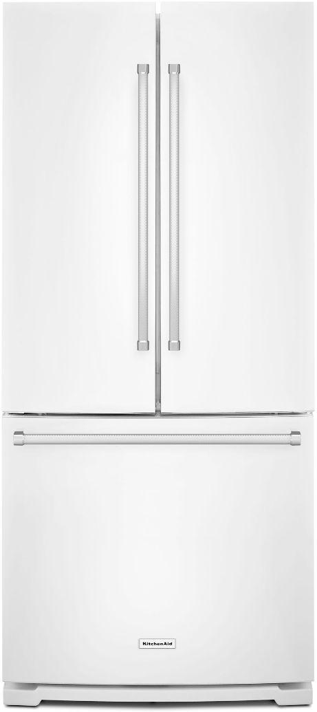 KitchenAid® 19.68 Cu. Ft. White French Door Refrigerator-KRFF300EWH