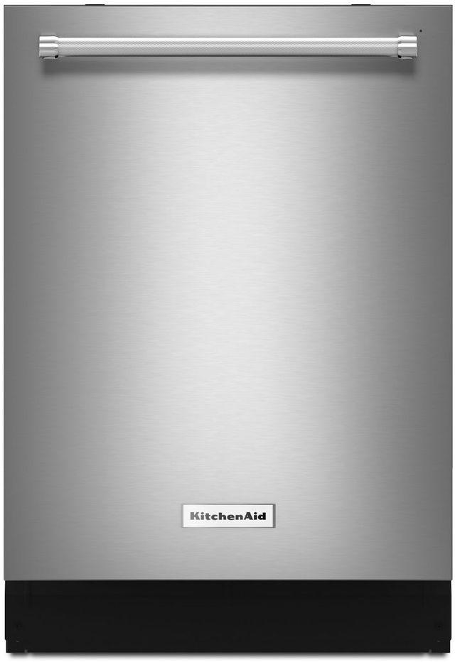 """KitchenAid® 24"""" Stainless Steel Built In Dishwasher-KDTM704ESS"""