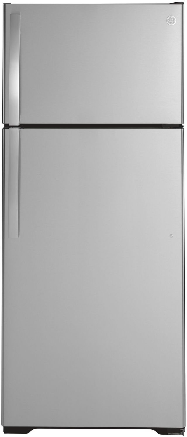 GE® 17.5 Cu. Ft. Stainless Steel Top Freezer Refrigerator-GTS18HSNRSS
