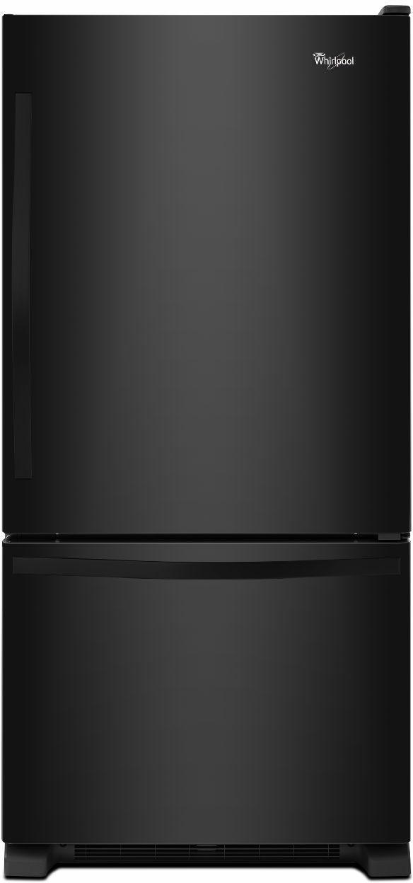 Whirlpool® 19.0 Cu. Ft. Bottom Freezer Refrigerator-Black-WRB329DMBB