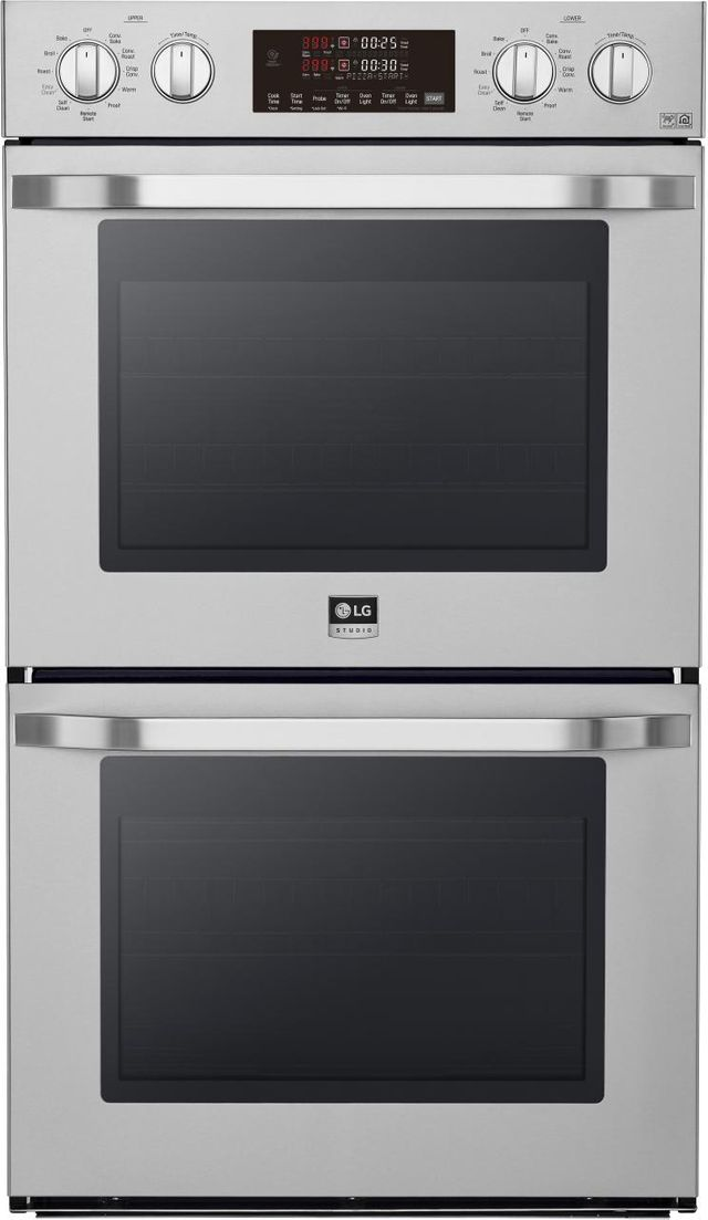 """LG Studio 29.75"""" Stainless Steel Electric Double Built In Wall Oven-LSWD307ST"""