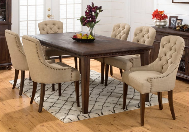 Jofran Inc. Geneva Hills Large Table and Upholstered Chair Set-678-78-6x212KD