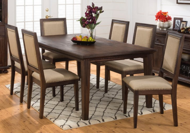 Jofran Inc. Geneva Hills Large Table and Side Chair Set-678-78-6x423KD