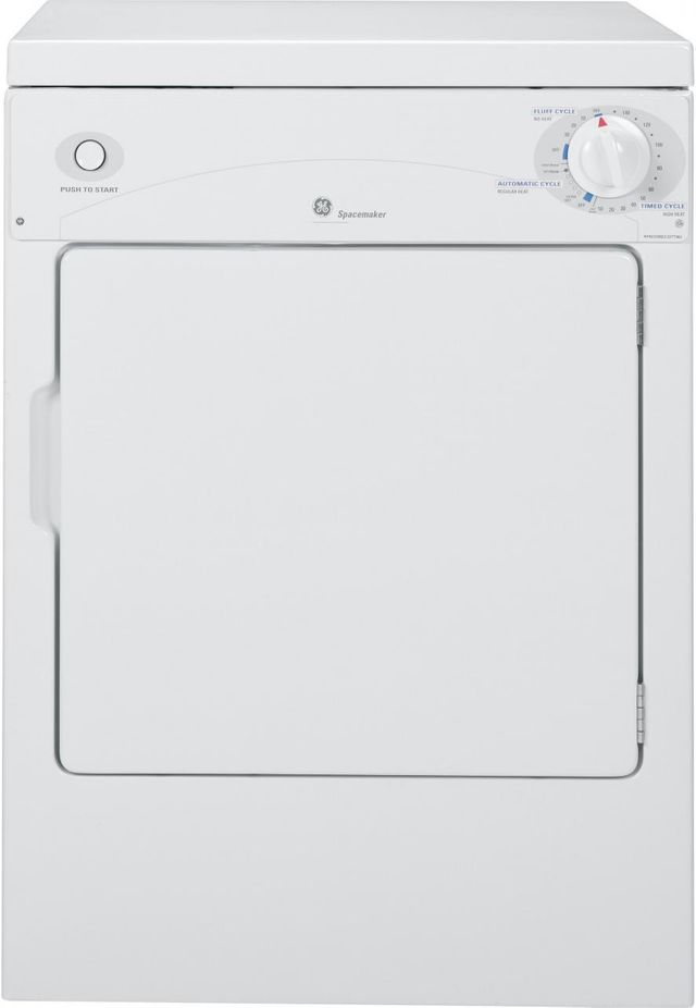 GE® Spacemaker® Portable Front Load Electric Dryer-White-DSKP333ECWW
