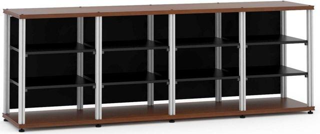Salamander Designs® Synergy Quad 30 AV Cabinet-Dark Cherry/Aluminum-SQ30C/A