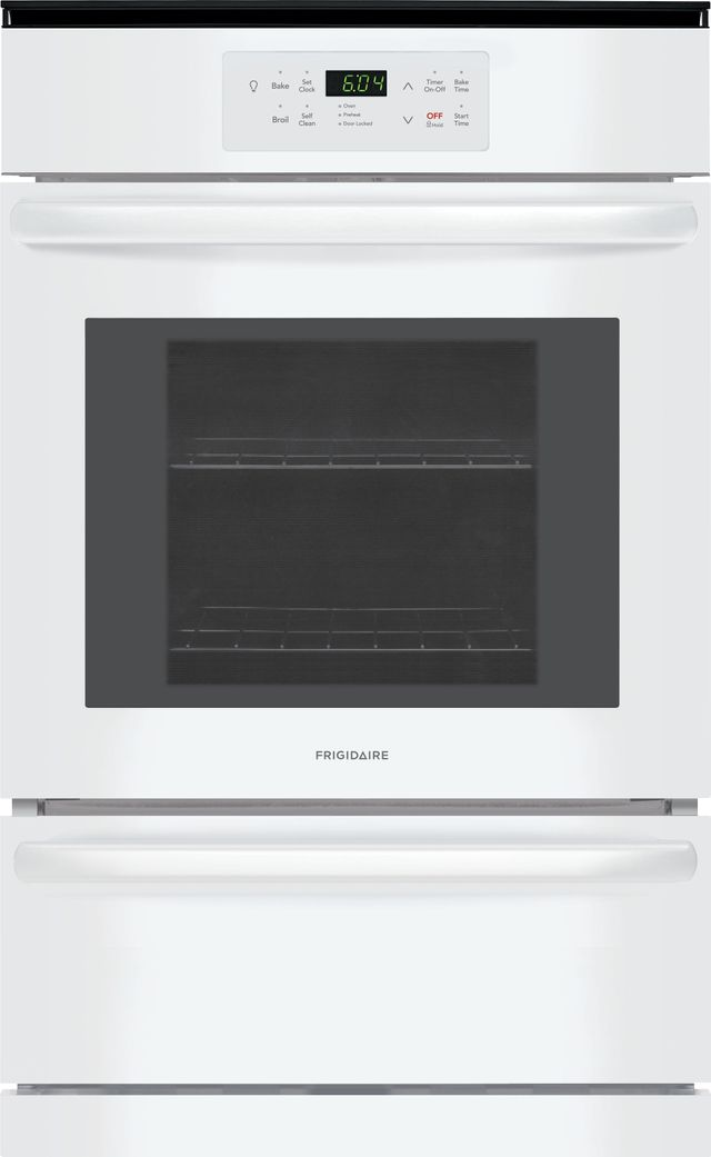 "Frigidaire® 23.88"" White Single Gas Wall Oven-FFGW2426UW"