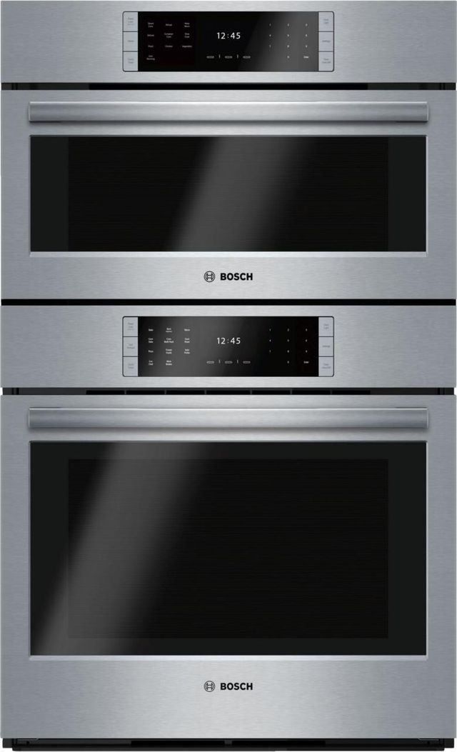 """Bosch Benchmark® Series 29.75"""" Stainless Steel Steam Electric Oven/Micro Combo Built In-HSLP751UC"""